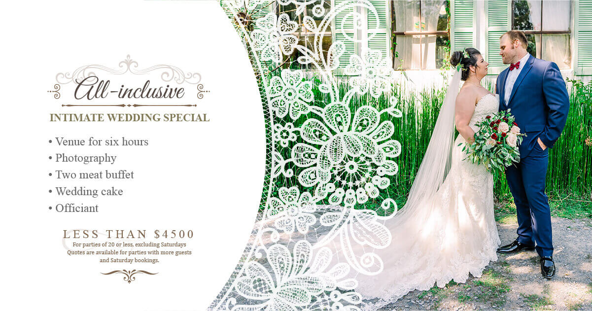 Intimate Wedding Special at Swann Stables